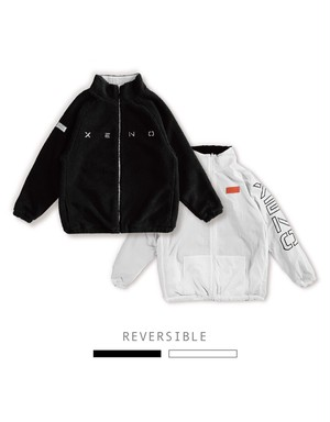 XENO REVERSIBLE BOA JACKET Black