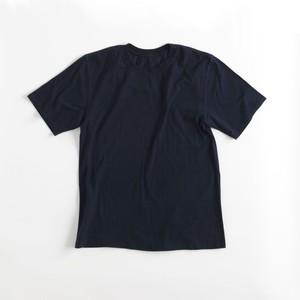 WORK-ER クルーネックTシャツ(ダークブルー/藍染)