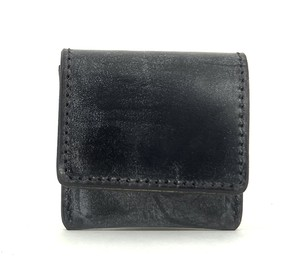 RE.ACT Bridle Leather Coin Case Black