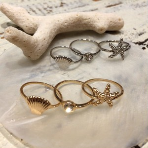 SEALIFE Motif 3 pcs Knuckle Ring (XR0559)