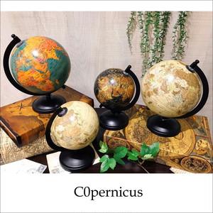 アンティークな地球儀 オブジェ Sサイズ      3color アンティーク雑貨 /浜松雑貨屋C0pernicus