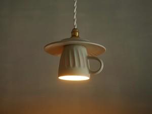カップ&ソーサーのペンダントライト/ LED照明器具/シャーベット