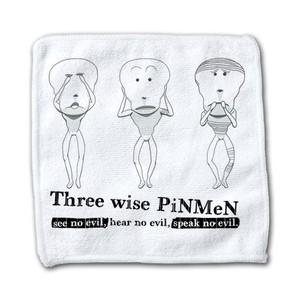 PiNMeN(三猿) ハンドタオル -bakikeda-