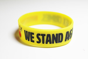 [ラバーバンド]WE STAND AGAINST SEX CRIMES. サイズF