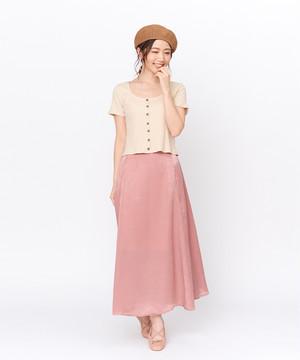 サテンマーメイドスカート:ピンク【9SWSK4-24】