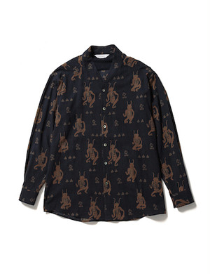 """MAYOKE"" WA-NECK BIG L/S SHIRT -NAVY- / Sasquatchfabrix."