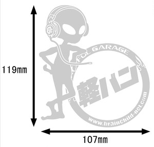 BRAINCHILDオリジナル車種ステッカー!!(軽バン)