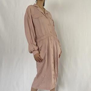 80's | jacket detail rayon dress