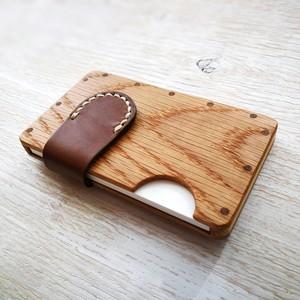a card case  オーク×ブラウン 無垢材と本革の名刺入れ | 木で作ったナチュラルでおしゃれな名刺入れ tackle wood design