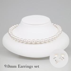 白妙90E-set(Shirotae)【Akoya8.5-9.0mm】Necklace & Earrings Set