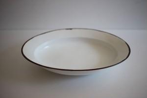 皓洋窯|白マット渕錆リム楕円皿