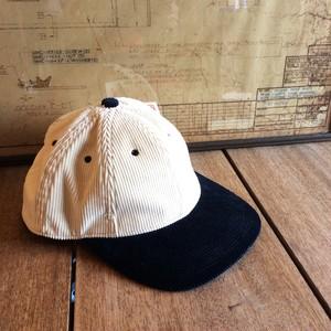 POTEN(ポテン) CORDUROY 2TONE PTN-9 日本製 ベースボールキャップ WHITE×NAVY