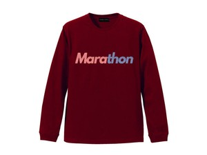 LONG SLEEVE T-SHIRT M319201-BURGANDY / ロンT バーガンディー BURGANDY  / MARATHON JACKSON マラソン ジャクソン