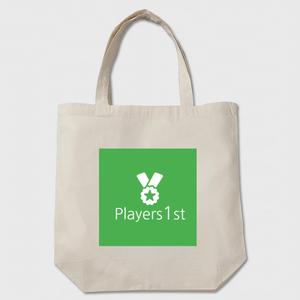 Players1st トートバッグ ベージュ 綿