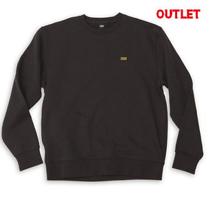 【アウトレット】SOUR SOLUTION GOLD EMBROIDERED CREW SWEAT BLACK