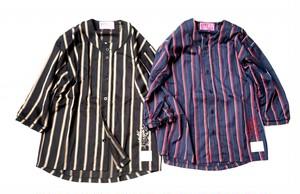 [予約商品]EFFECTEN(エフェクテン) London stripe baseball shirts