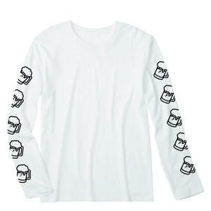 ビール ロングTシャツ(ホワイト)