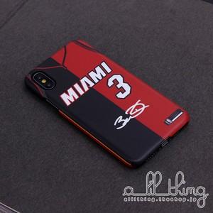 「NBA」ヒート ドウェインウェイド コラージュ風 ジャージ サイン入り iPhoneX iPhone7 ケース