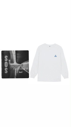 """(受注販売)""""triangle logo"""" LS T-shirt /CD Set"""