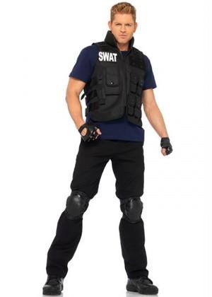 [Leg Avenue] 4PC SWAT Commander スワット メンズ コスチューム [LA-83682]