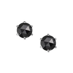 PT900ブラックダイヤモンドピアス 050201009954