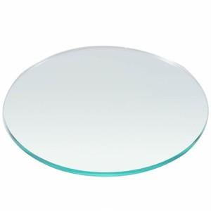 直径100mm板厚5mm ガラス色 円形アクリル板 国産 丸板 アクリル加工OK  カット面磨き仕上げ