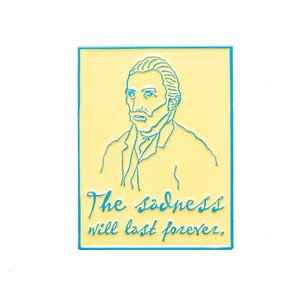 "Pretty Bad Co""The Sadness Will Last Forever Van Gogh Yellow Pin"""