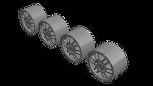 3Dモデルデータ 1/64 ホイール TRD ALY69574 タイプ