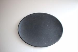 古川元吾(撫菜花工藝)|楕円皿(南蛮)