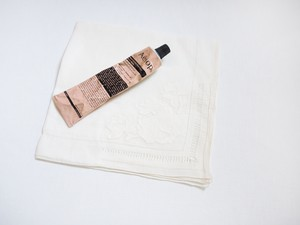 【Souvenir】 ヴィンテージアップリケ刺繍ハンカチ1 from America