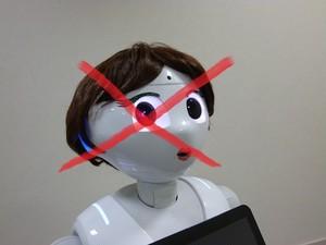 お知らせ☆ロボットのカツラについて☆NGケース