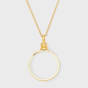 シックスペンスコインリメイク用「コイン枠付ネックレスチェーン」ゴールドカラー