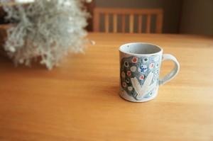 砥部焼/「小さな森」マグカップ