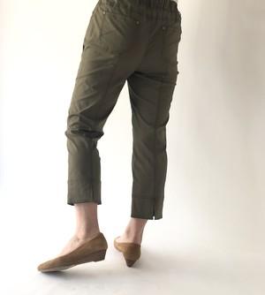 薄手コットンの裾スリット入りクロップドパンツ#8502  #TOUT A FAIT トゥータフェ