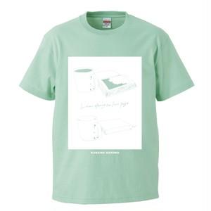 【フクモトエミ デザイン】最後のページは開かずに T-shirt