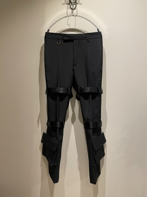 SOSHIOTSUKI 21ss NORFOLK BONDAGE TROUSERS BLACK ソウシオオツキ トラウザーズ
