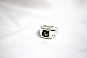 LaJewel SquareSignetRing Silver「the Month of birth Number 1 to 12」
