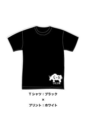 LIBERTE × 横向きサイ Tシャツ(ブラック)