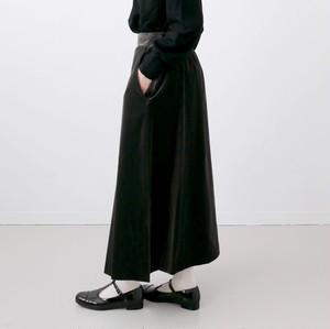UNIVERSAL TISSU / スーピマコットンベルベット スリット スカート