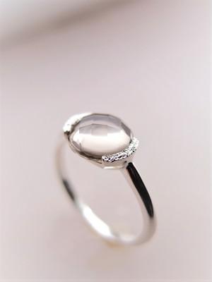 スモーキークォーツ*SU silver ring