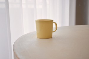 arabia teema mug cup yellow(Kaj Franck)