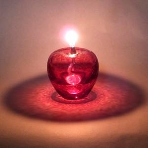 「赤りんご」オイルランプとオイルのセット