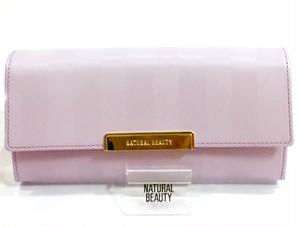 「Natural Beauty」サイレントストライプ かぶせ型長財布