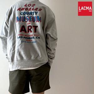 【ロサンゼルスより】LACMA Champion Reverse Weave Sweatshirt LACMA オリジナル リバースウイーブ スウェットシャツ【62661-grey】