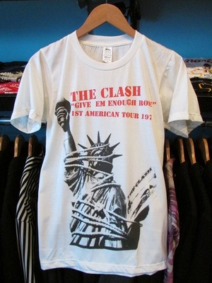 S/STシャツ THE CLASH GIVE'EM ENOUGH ROPE ホワイト
