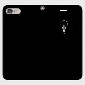 【8Plus,7Plus】ロゴiPhoneケース手帳型黒