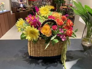 【8月17日開催】Hide TANAKA CLOUDY カゴバッグフラワーレッスン