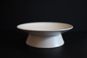 鈴木しのぶ|高台皿5寸(白)
