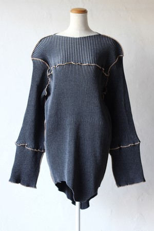 【kotohayokozawa】pleats mini dress-indigo