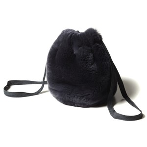【FILL THE BILL】REX FUR PURSE - CHARCOAL